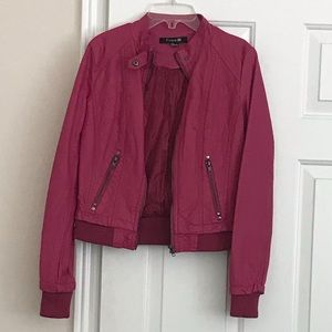 Forever 21 partly quilted hot pink  jacket